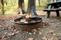 fire pit, camping
