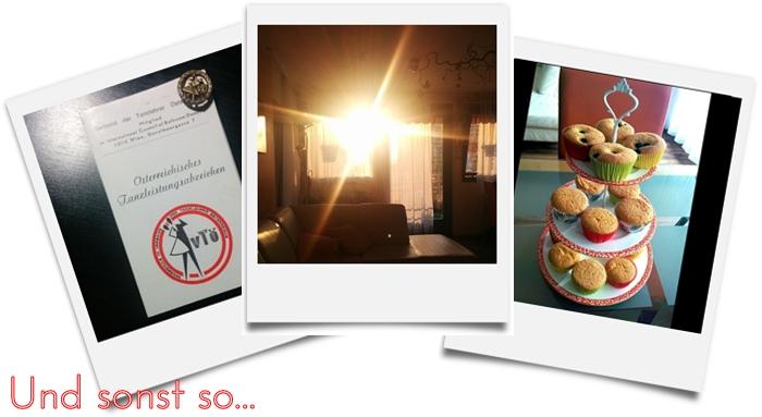 Österreichisches Tanzleistungsabzeichen | Sonnenuntergang | Etagere mit Muffins