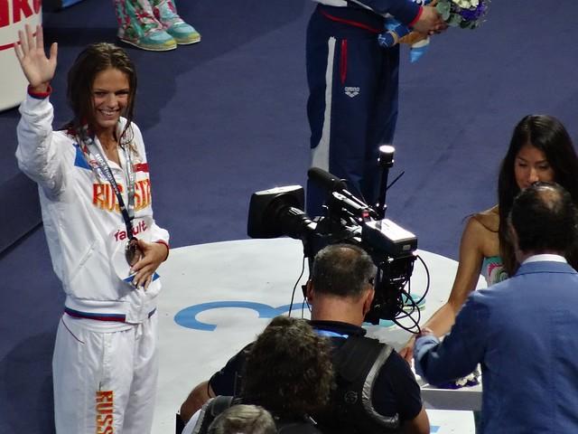Yuliya Efimova silver in the BCN2013 women's 100 breast