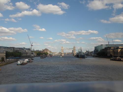 The Tower Bridge, as seen from London Bridge