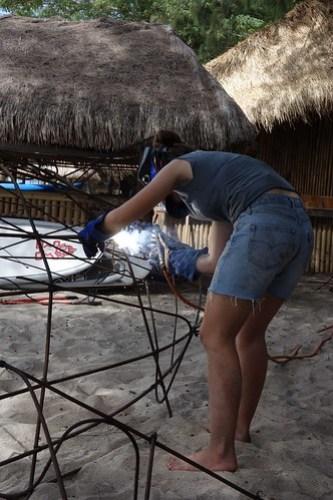Arabella welding Jamie