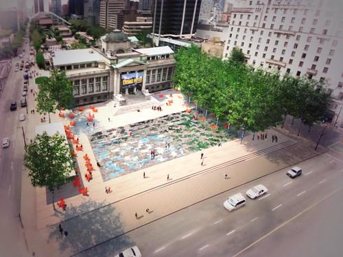 North Plaza Concept - Wet