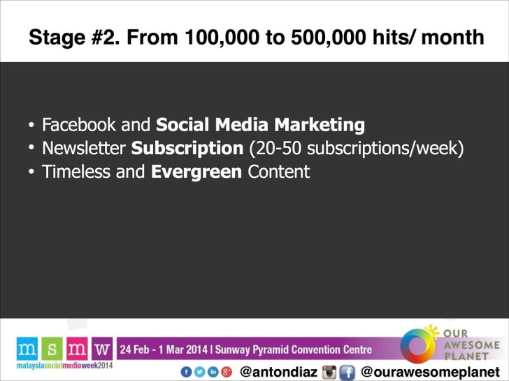 The Road to 1,000,000 Pageviews - The OAP Story MSMW2014 -17