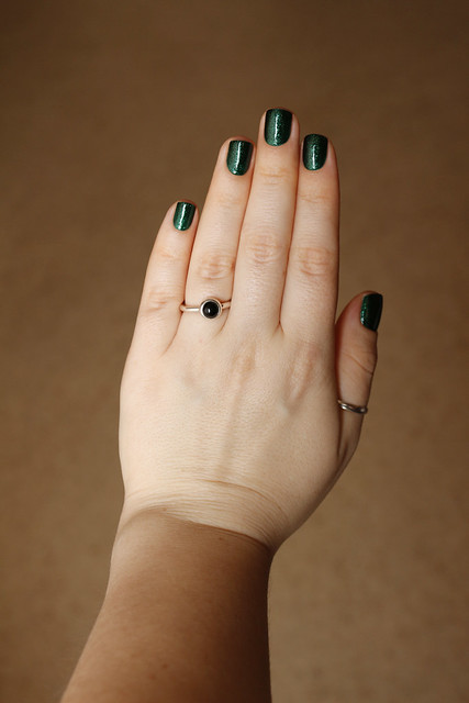 04 China Glaze Emerald Sparkle swatches