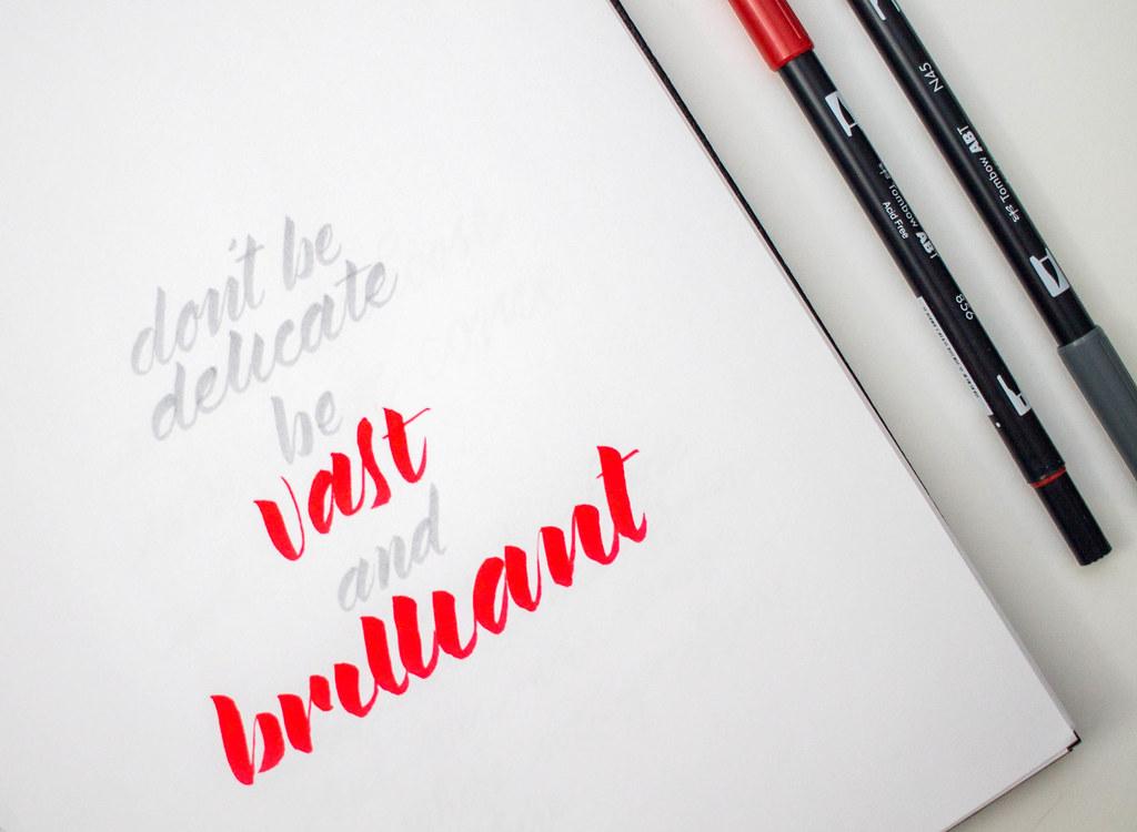 brush pen quote 7
