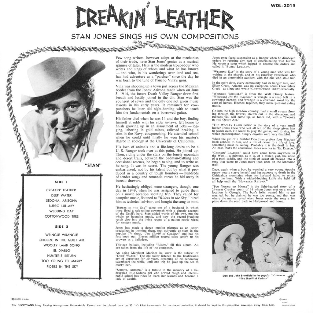 Stan Jones - Creakin' Leather b