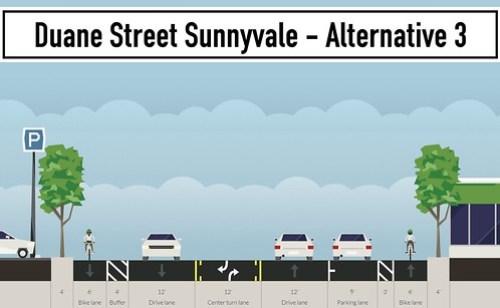 Duane Street street proposals Sunnyvale CA