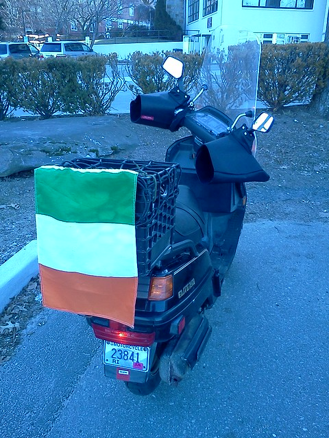 Honda Elite 250 with Irish Tricolour