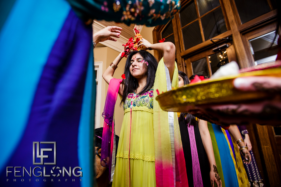 Mehndi night ceremony