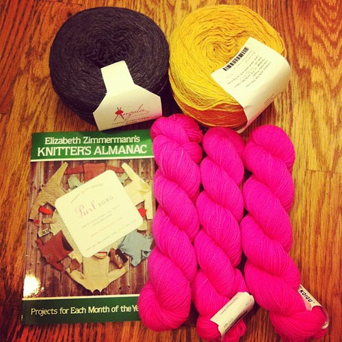 My new yarn from #purlsoho  #yarnaholic #neverenoughyarn
