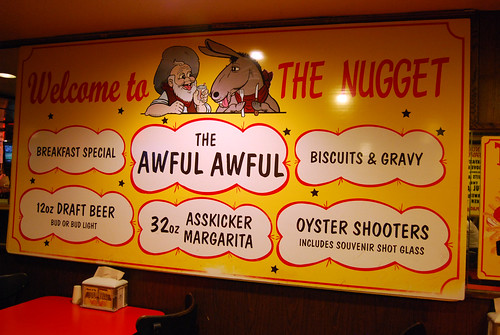 The Nugget sign