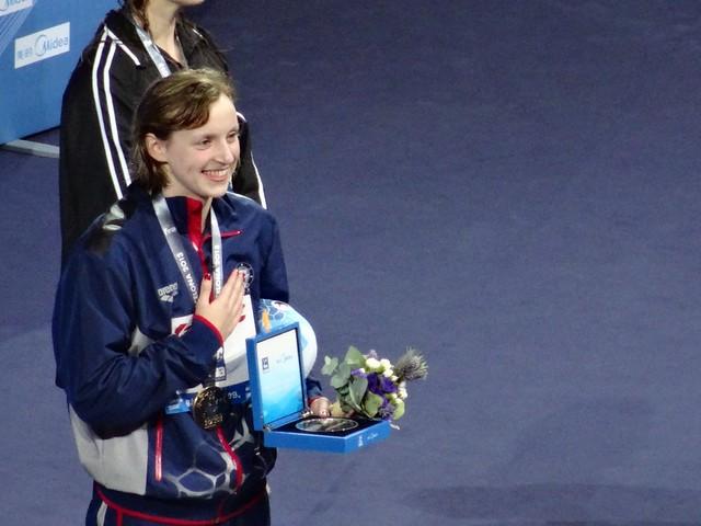 Katie Ledecky 1500 free WR at BCN2013