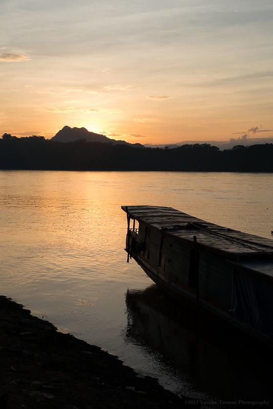 the Mekong sunset