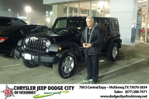 Thank you to Steven Waller on your new 2014 #Jeep #Wrangler Unlimited from Bobby Crosby and everyone at Dodge City of McKinney! by Dodge City McKinney Texas