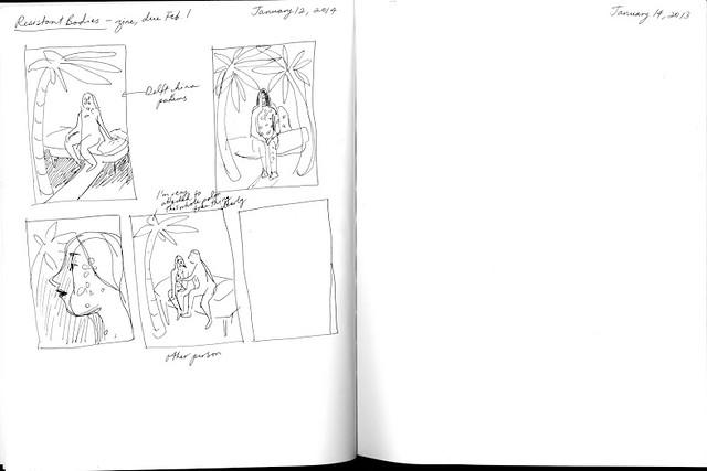 Sara Bloem sketchbook page