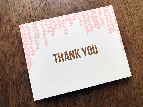 Pink and Brown Thank You Card Printable