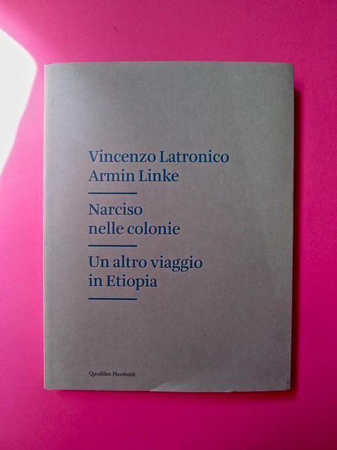 Vincenzo Latromico, Armin Linke, Narciso nelle colonie. Quodlibet Humboldt 2013. Progetto grafico di Pupilla Graphic. Copertina (part.) 3