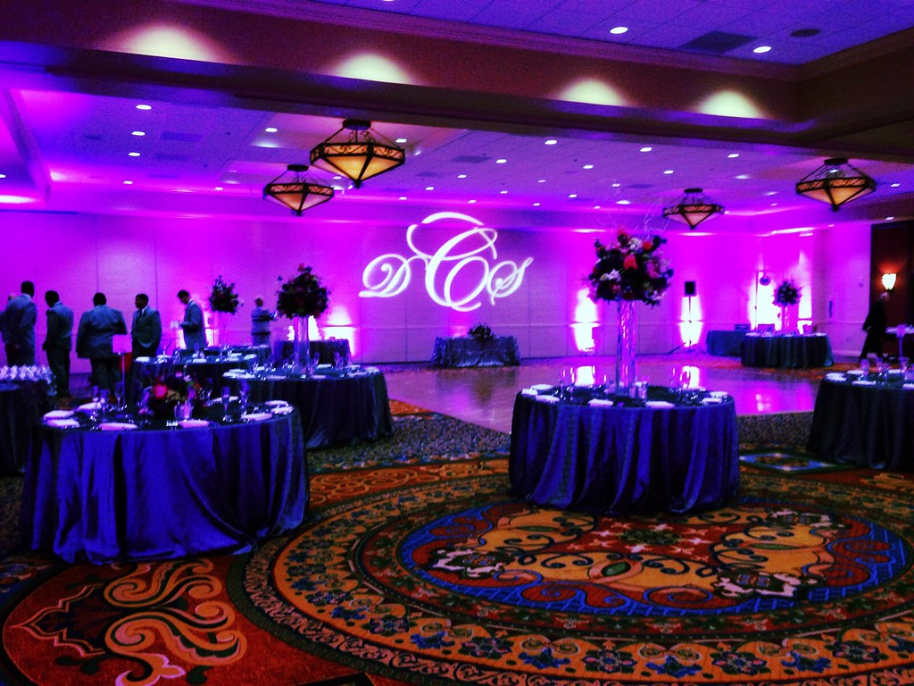 monogram projection wedding
