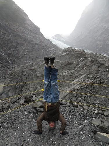 53. franz josef glacier headstand
