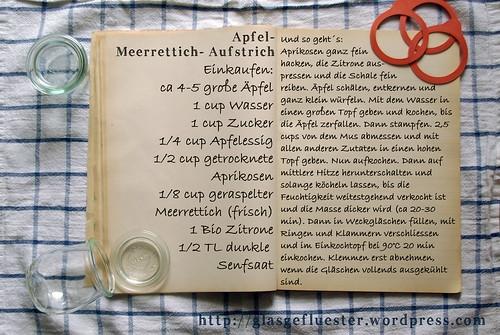 Einkaufszettel Apfelmeerrettichaufstrich by Glasgefluester