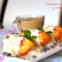 Melocotones con yogur y avena (Desayunos ligeros)