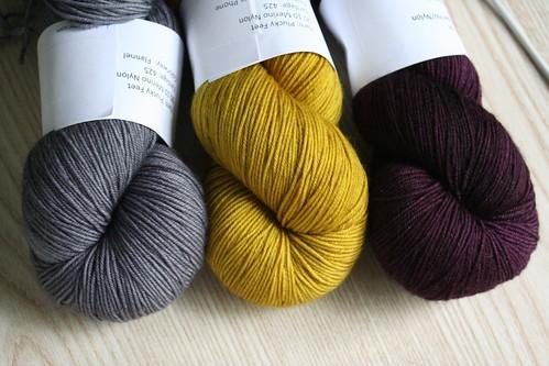 ready :: yarn for TTL Mystery Shawl KAL