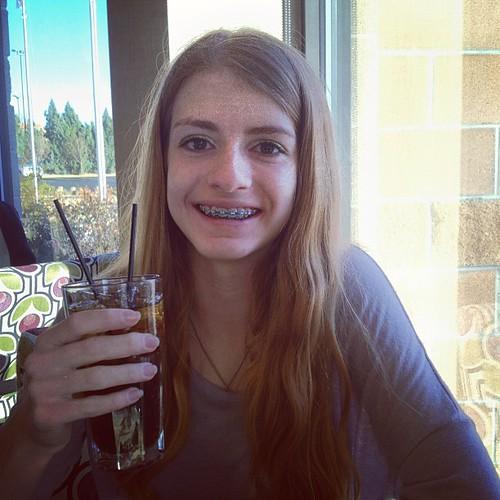 Maddie w just a coke by @MySoDotCom