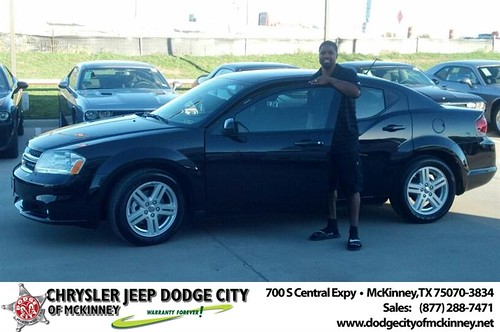 Thank you to Andre Buckner on your new 2014 #Dodge #Avenger from Bobby Crosby and everyone at Dodge City of McKinney! #RollingInStyle by Dodge City McKinney Texas