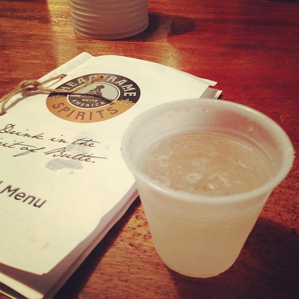 Getting our drinks to-go for the Folk festival #butteamerica #montanafolkfestival
