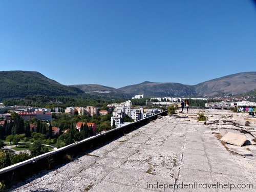 Rooftop snipers used, Mostar