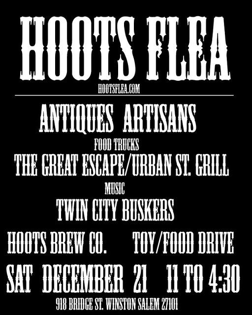 HOOTS FLEA MARKET poster