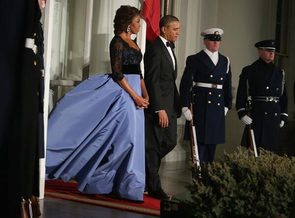 MICHELLE OBAMA'S DRESS for french STATE DINNER