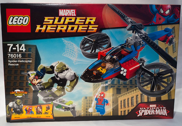 review lego 76016 marvel spiderman le sauvetage en spider h licopt re hellobricks blog lego. Black Bedroom Furniture Sets. Home Design Ideas