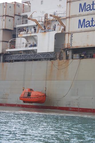 lowering lifeboat