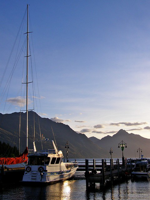 Sailboats in Queenstown Harour, New Zealand