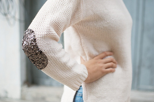 a pair and a spare sequin sweater diy