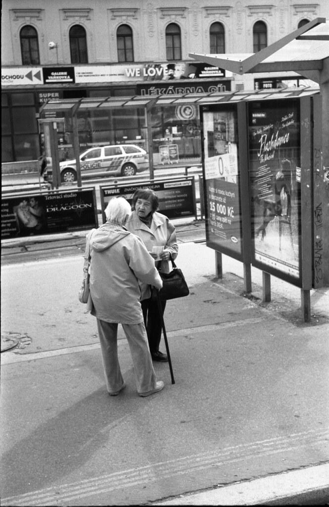 Kiev 4 - New Scan - Women Talking at Tram Stop
