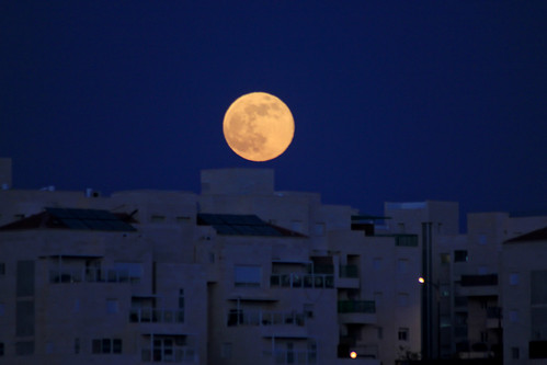 Supermoon over Maale Adumim