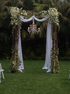 Chuppah with chandelier