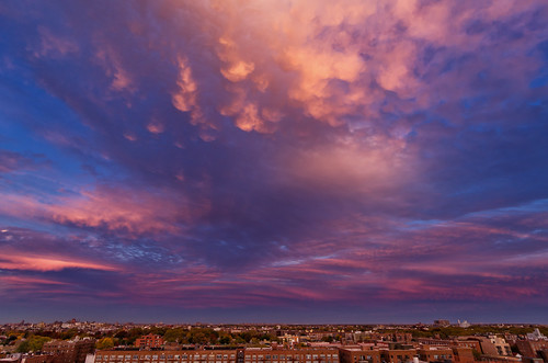 Tonight's sunset over Brooklyn