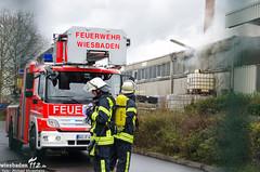 Feuer Lagerhalle Schierstein 15.02.14
