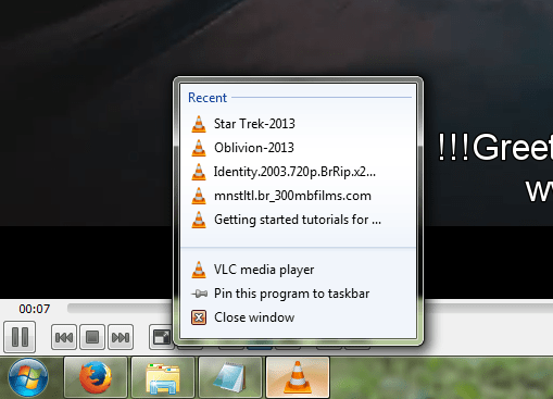 How to permanently disable VLC recent played list on dock /taskbar  (1/6)