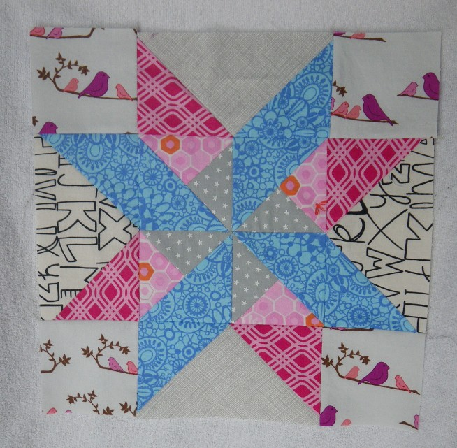 Star and Pinwheel block for Jaclyn