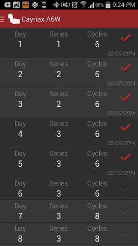 ตารางของวันที่ 5 ยังคงเป็น 6 Cycles 3 Series