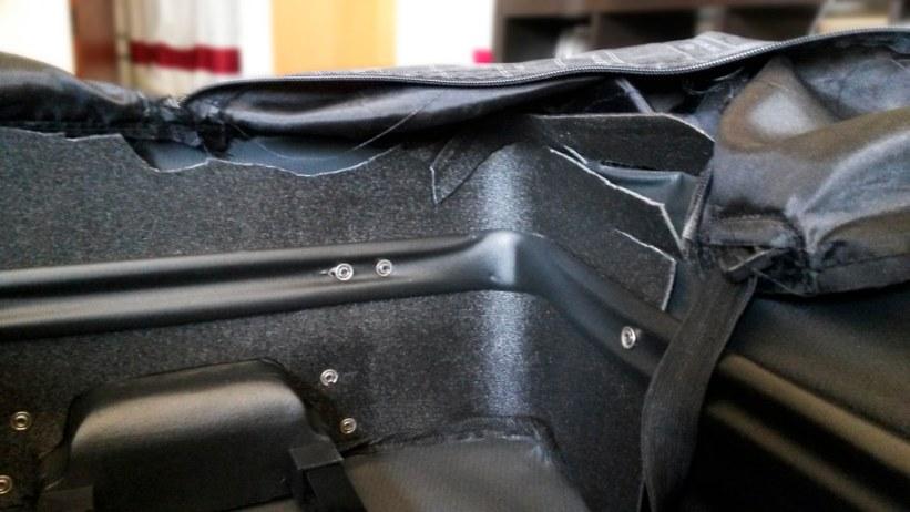 ødelagt kuffert på flyrejsen