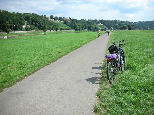 Biking Along the Elbe River near Dresden