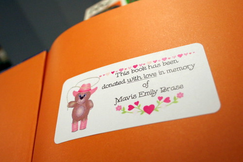 69/365 - Mavis' Book Label