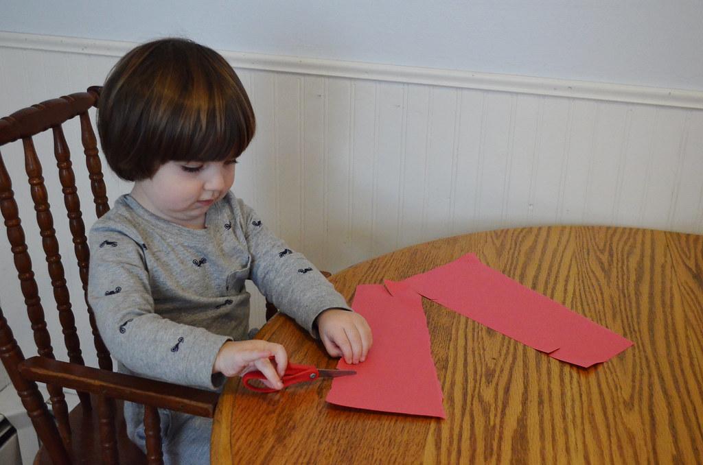 Zane cutting paper