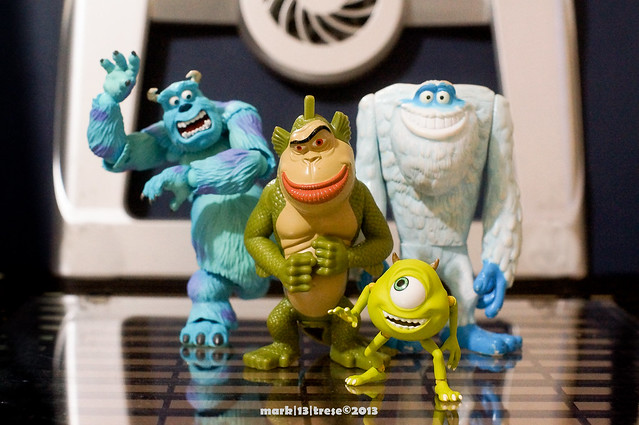 Revoltech Monster's Inc. Sully Mike Sasquatch Merman Monsters Vs. Aliens