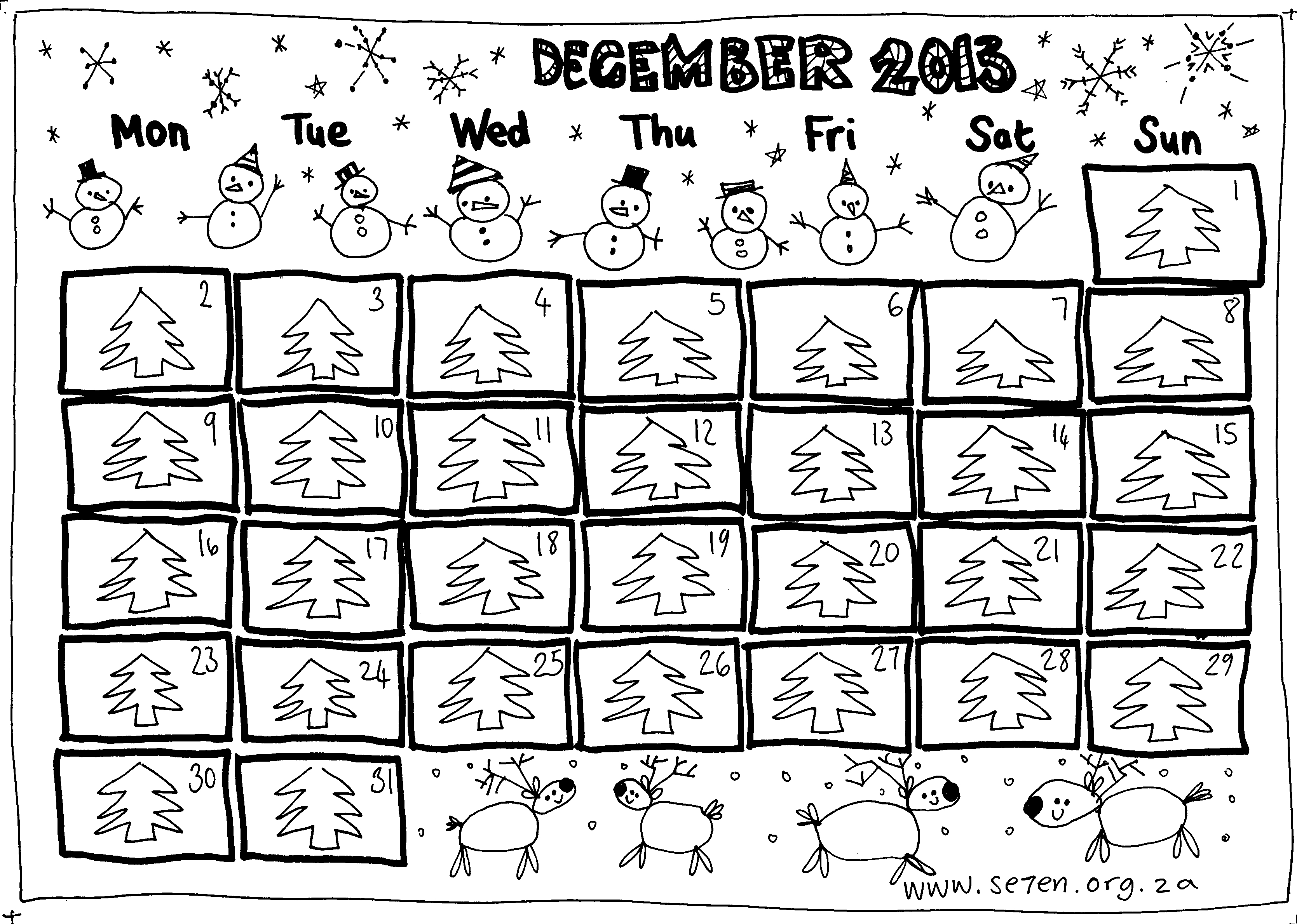 Se7en S December And A Free Printable Advent Calendar
